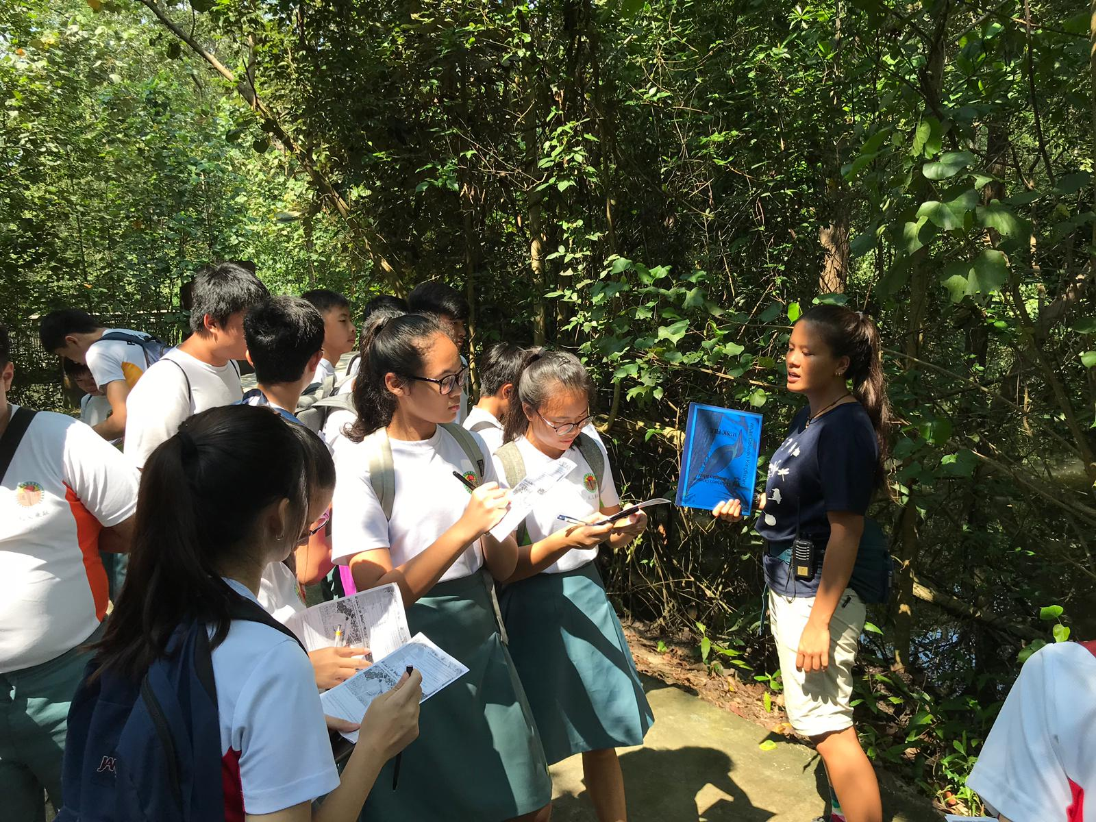 Students learning about the flora and fauna at Sungei Buloh Wetland.png