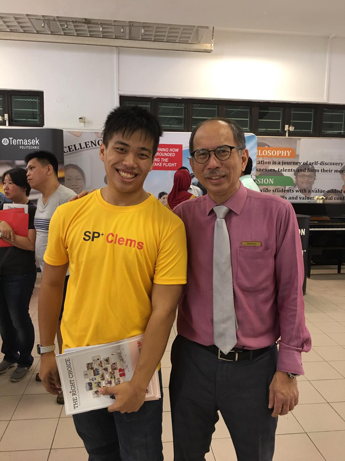 Punggol Sec alumni studying at Poly @ Careers Fair in Punggol campus.jpeg